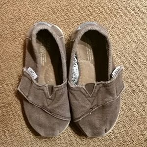 Toms Toddler Brown Flats Shoes
